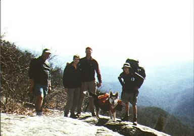 Hikers: Papa Bear, Trail Trotter, Whittler, Tigger, and Christopher Robbin
