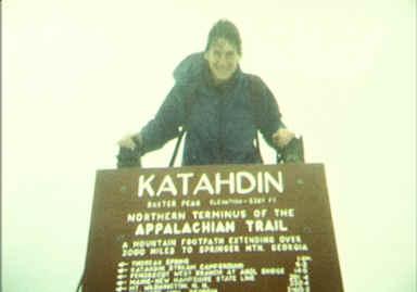 Katahdin summit shot on a lousy day